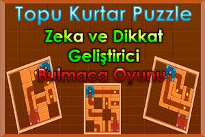 Zeka ve Dikkat Geliştirici Topu Kurtar Puzzle Oyunu