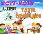 4.Sınıf Yarı Yıl Tatil Ödevleri 2017-2018