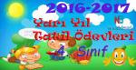 2016-2017 1. Yarı Yıl 4.Sınıf Tatil Ödevleri